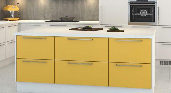 nettoline kjøkken gult